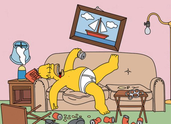 homer-simpson-divano