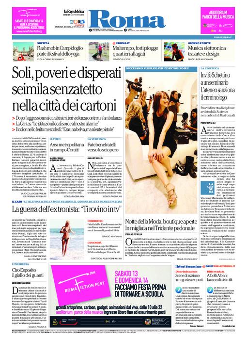 copertina roma repubblica