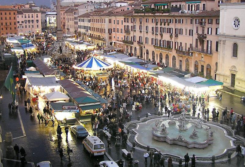 Sara 39 un natale senza piazza navona the roman post for Il mercatino roma
