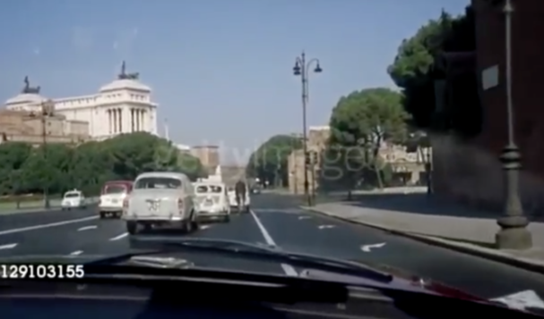 Guidare a Roma nel 1960 (VIDEO)