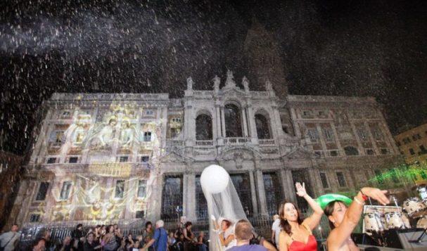 Venerdi' sera il miracolo della neve all'Esquilino
