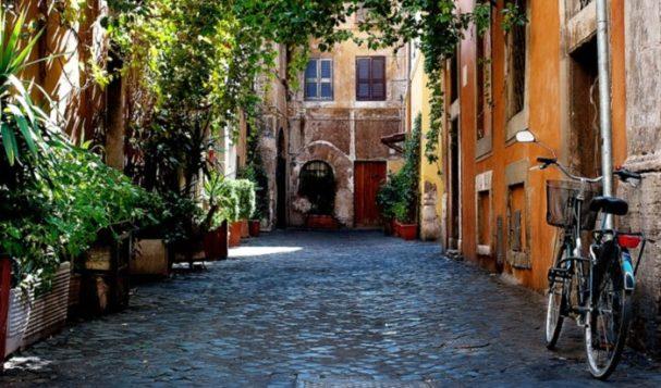Il romano a Trastevere
