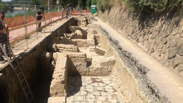A Ponte Milvio riaffiora un tesoro archeologico
