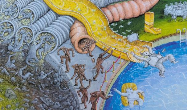 Blu e' tornato a Roma, nuovo murales a Rebibbia